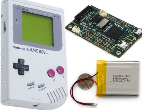 Retro Boy - portable gaming console with an Odroid-w in a